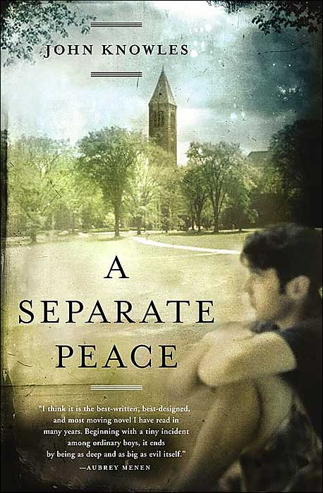 theme maturity separate peace john knowles One of the major themes in a separate peace is the coming of age the theme of maturity can be viewed as a growing realization of the war in the school (in which the students realize that they have to enlist into the war as men), or the priva.